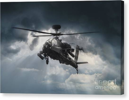 Aac Canvas Print - Apache Gunship by J Biggadike