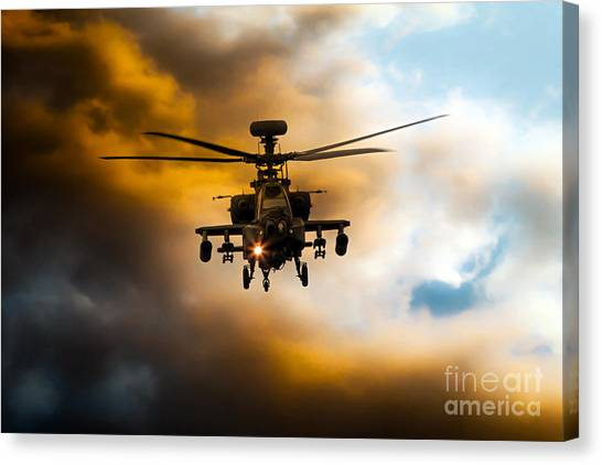 Aac Canvas Print - Apache Hunter  by J Biggadike