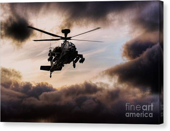 Aac Canvas Print - Apache Warrior  by J Biggadike