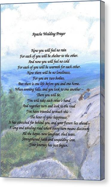 Apache Wedding Prayer Canvas Print