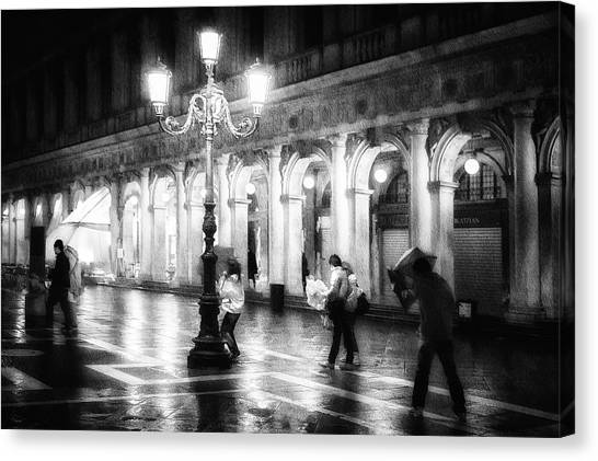 Night Lights Canvas Print - Apart From Storm And Rain ... by Roswitha Schleicher-schwarz