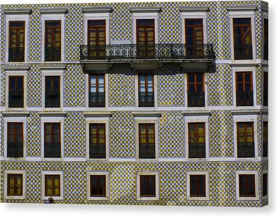 Apartment Block In Lisbon  Canvas Print