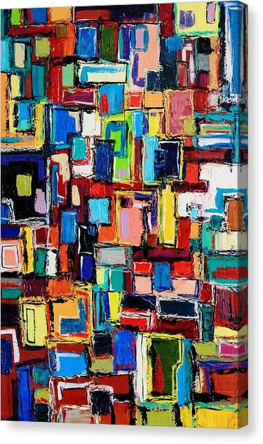 Apartment Windows Canvas Print