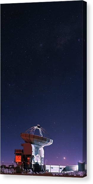 Atacama Desert Canvas Print - Apex Radio Telescope And Night Sky by Babak Tafreshi