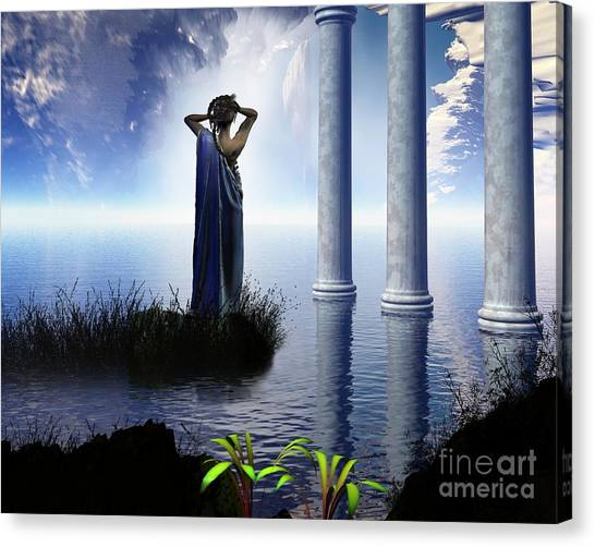 Fantasy Cave Canvas Print - Aphrodite's Grotto by Fairy Fantasies