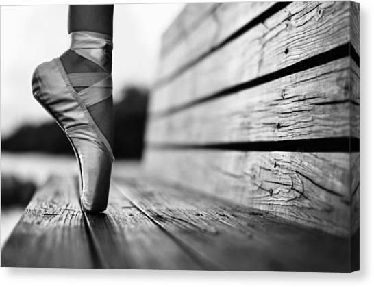 Ballet Canvas Print - Aplomb by Laura Fasulo