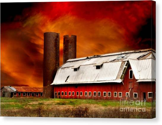 Canvas Print featuring the photograph Apocalypse At Rolling Fork by T Lowry Wilson