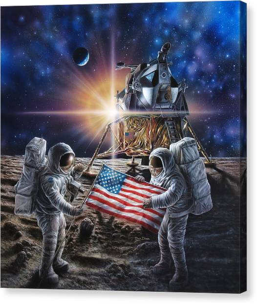 Science Fiction Canvas Print - Apollo 11 by Don Dixon