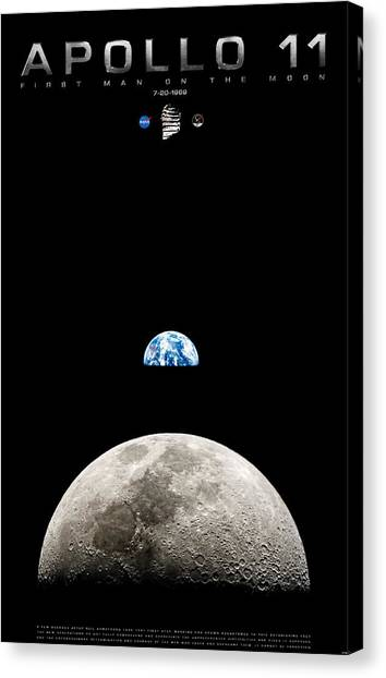 Apollo 11 First Man On The Moon Canvas Print
