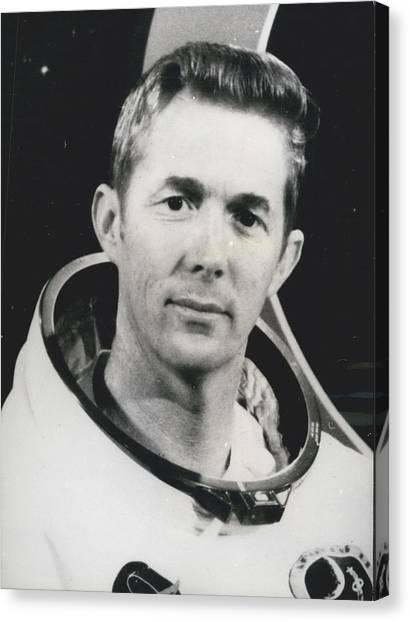 Apollo 14 Astronaut Stuart Roosa - Apollo 14 Command Module Canvas Print by Retro Images Archive