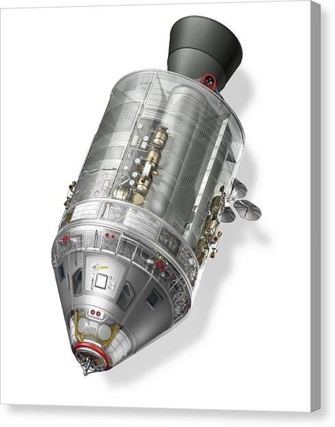 Apollo Command Service Module Canvas Print by Carlos Clarivan/science Photo Library