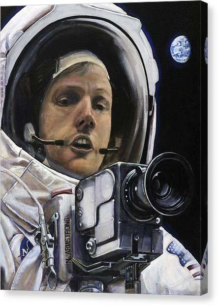Atheism Canvas Print - Apollo- For Mankind by Simon Kregar