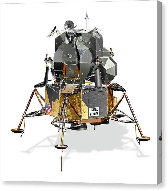 Apollo Lunar Module Canvas Print by Carlos Clarivan/science Photo Library