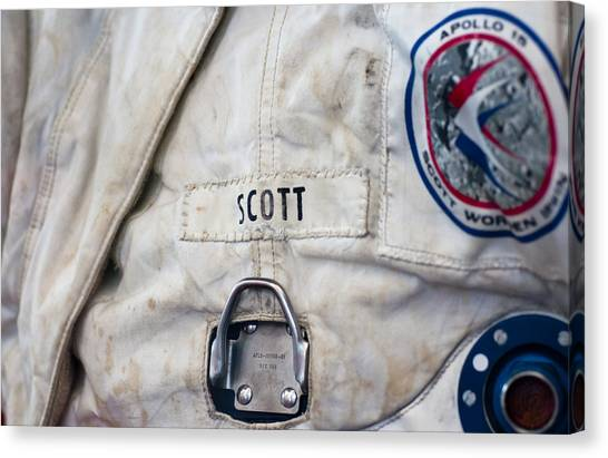 Apollo Lunar Suit Canvas Print