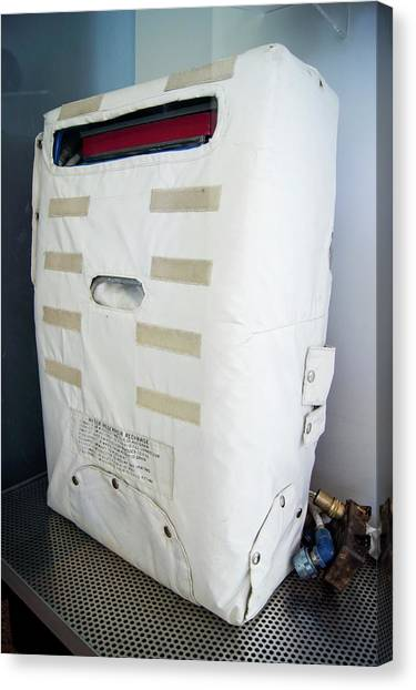 Space Suit Canvas Print - Apollo Spacesuit Backpack by Mark Williamson/science Photo Library