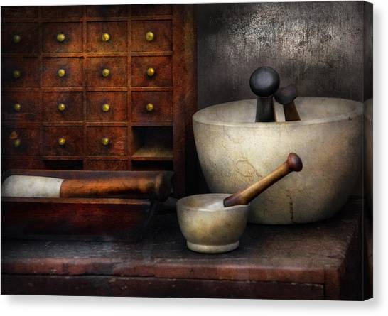 Apothecary - Pestle And Drawers Canvas Print