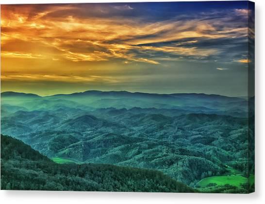Appalachian Mountain Sunset Canvas Print