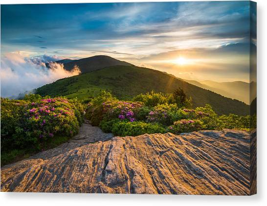 Tn Canvas Print - Appalachian Trail Sunset North Carolina Landscape Photography by Dave Allen