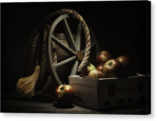 Fruit Baskets Canvas Print - Apple Basket Still Life by Tom Mc Nemar