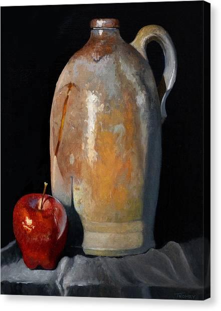 Crocks Canvas Print - Apple Meets Crock by Catherine Twomey