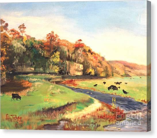 Apple River Valley Il. Autumn Canvas Print