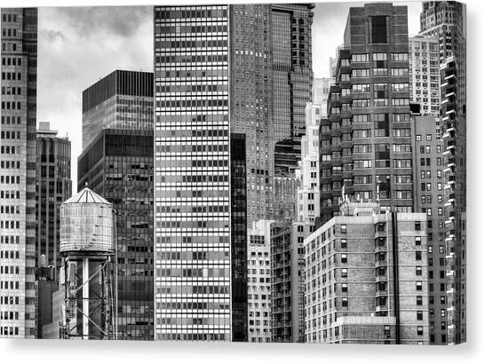 Apple Slices Bw Canvas Print by JC Findley