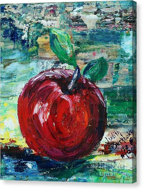 Apple - Sold Canvas Print by Judith Espinoza