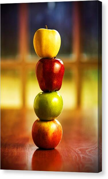 Apple Stack Canvas Print