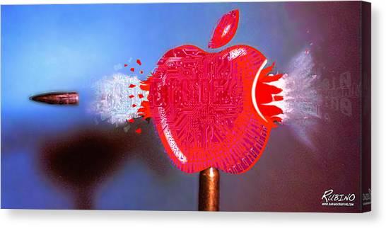 Dada Art Canvas Print - Apple by Tony Rubino