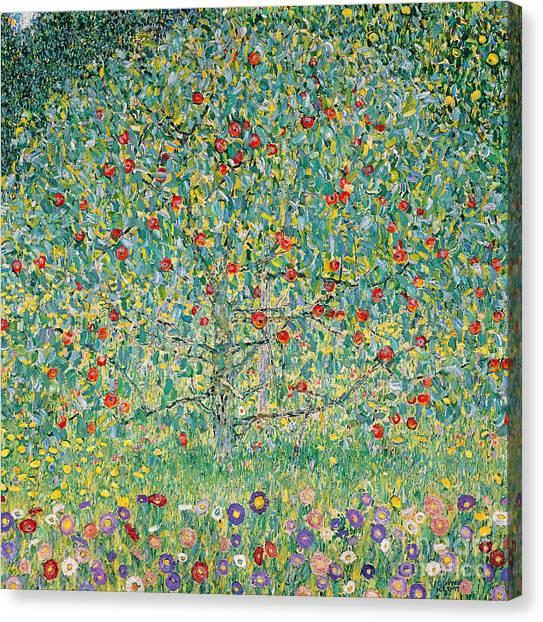 Gustav Klimt Canvas Print - Apple Tree I by Gustav Klimt