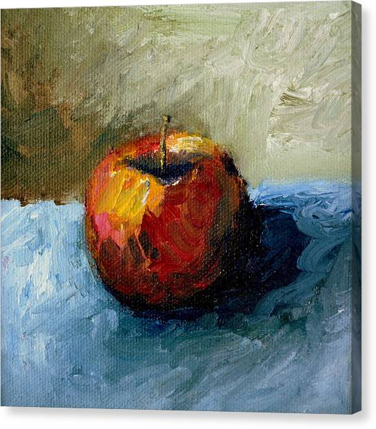 Apple With Olive And Grey Canvas Print