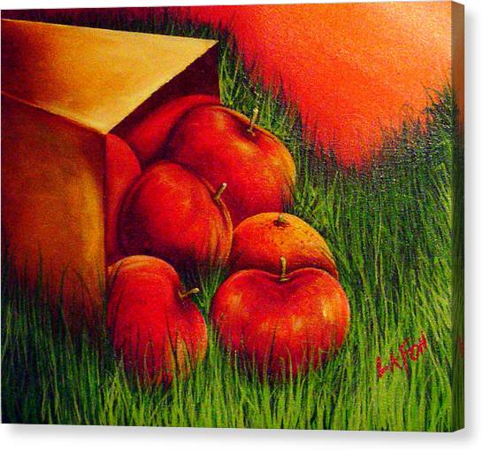 Apples At Sunset Canvas Print