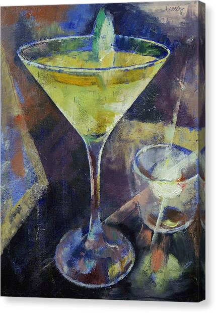 Gin Canvas Print - Appletini by Michael Creese