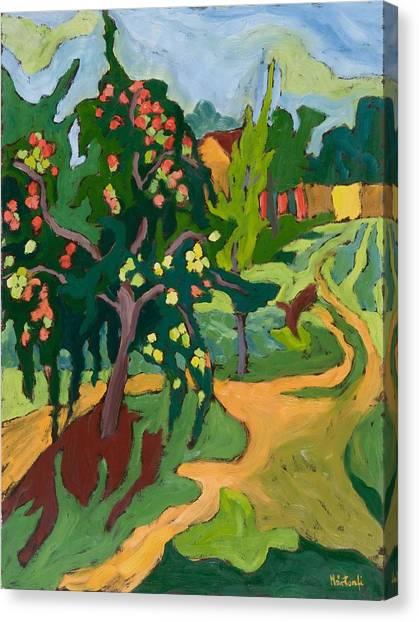 Fruit Trees Canvas Print - Appletree by Marta Martonfi Benke
