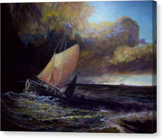 Approaching Gale  After Turner Canvas Print