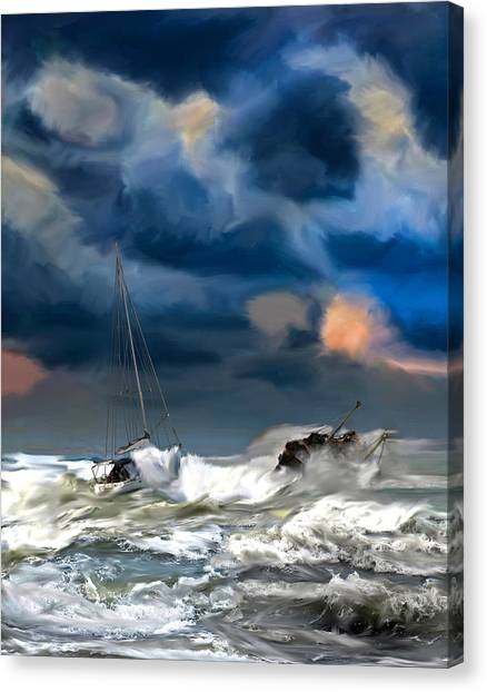 Hurricanes Canvas Print - Approaching Storm by Emada Photos