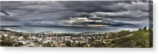 Approaching Storm Hdr Panorama  Canvas Print by Joe  Palermo