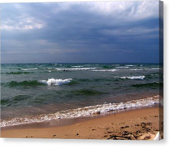 Approaching Storm Over Lake Michigan Canvas Print