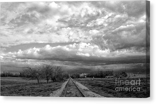 Approaching Troubled Time  Canvas Print