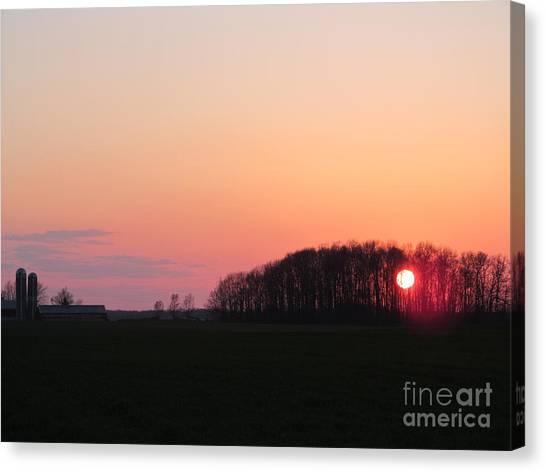 April 24 2013 Sunset Canvas Print