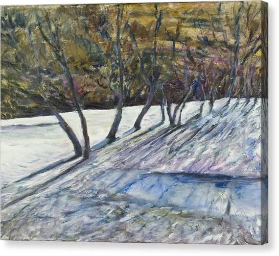 April Coulee Canvas Print