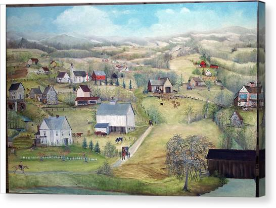 April Is Delightful Canvas Print by Cheryl Korb