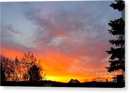 April Sunrise Canvas Print