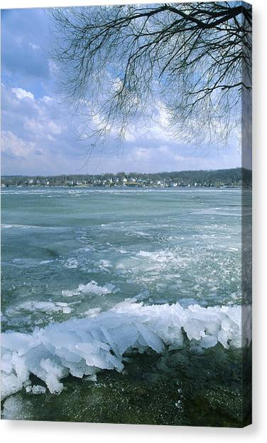 April Thaw - Lake Geneva Wisconsin Canvas Print