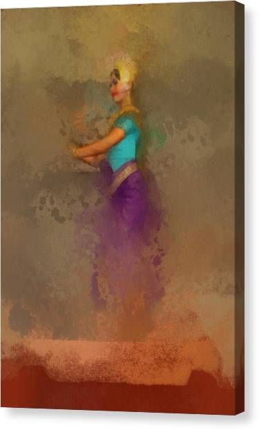Apsara Dancing Cambodia Lovely Lady Canvas Print by Teara Na