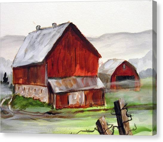 Apulia Farm Barn Canvas Print