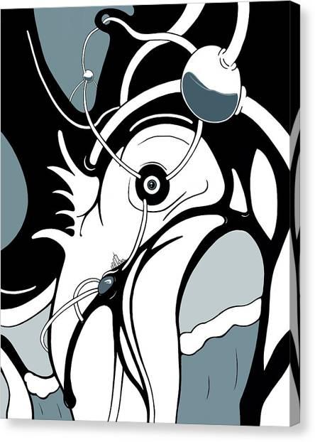 Aqua Grid Canvas Print