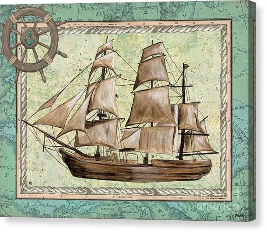 Pirate Canvas Print - Aqua Maritime 1 by Debbie DeWitt