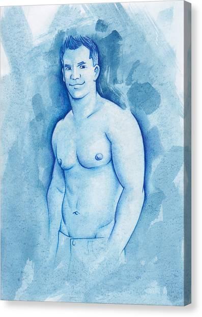 Aqua Canvas Print by Rudy Nagel