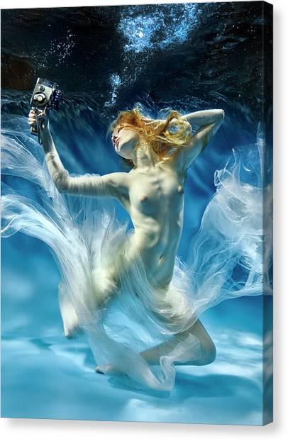 Aqua-theatre Canvas Print by